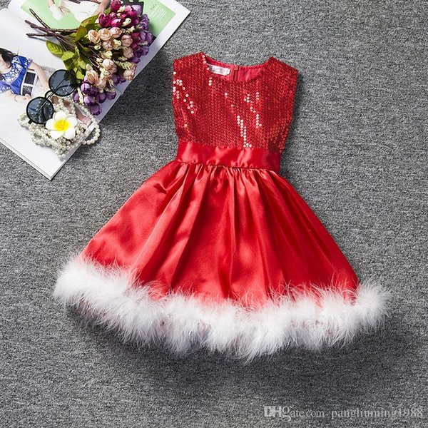 2018 Christmas Party Design Kids Clothes Baby Frock Design Pictures