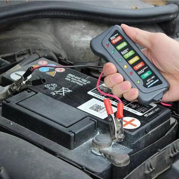Tirol 12V LED Digital Car Battery Tester Alternator Tester 6LED Lights Display Indicates Condition Diagnostic Tool K1027