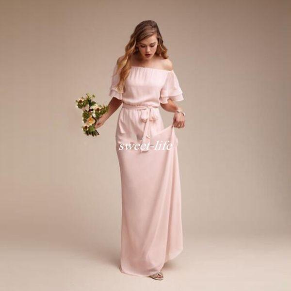 Özel Gelinlik Modelleri Kısa Kollu Kanat Şifon 2020 Artı Boyutu Kadınlar Örgün Elbise Plaj Ülke Düğün Onur Hizmetçi törenlerinde
