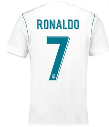 Ronaldo | 2018 Fifa World Cup | Real Madrid Jersey - Home or Away | White Blue or Black | Plain, Player-promoting or Personalized --- Complete Customizability |