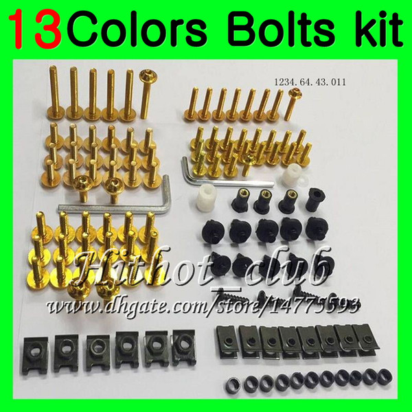 Fairing bolts full screw kit For KAWASAKI NINJA ZX6R 98 99 00 01 ZX 6R ZX 6 R 98 99 ZX-6R 1998 1999 Body Nuts screws nut bolt kit 13Colors