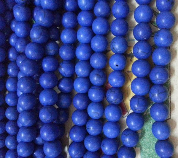 wholesale Blue pretty 8mm Blue Turkey Turquoise Gems Round Loose Bead total 500pcs