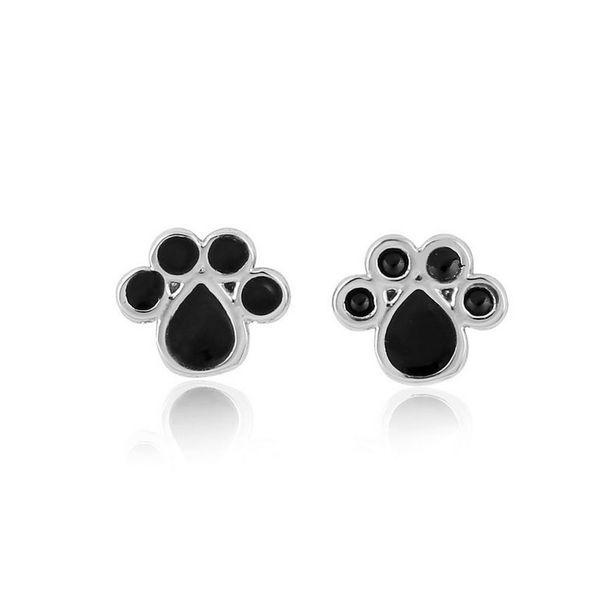10pair New Arrival Fashion Cute Dog Cat Paw Stud Earrings Animal Paw Print Stud Earrings Dog Paw Earring Women Gift Jewelry