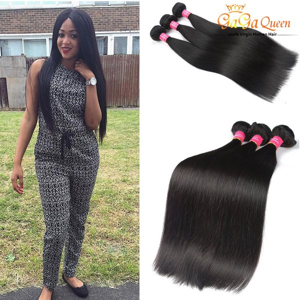 Wholesale 8A Brazilian Human Hair Extensions Malaysian Peruvian Unprocessed Straight Hair 100g/pcs 4Bundles Dyeable Best Quality Hair Weave
