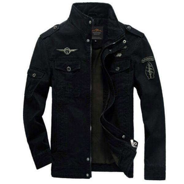 Vestes Armée Militaire Hommes plus la taille 6XL Veste chaude de broderie de vêtements d'extérieur pour l'homme aeronautica militare