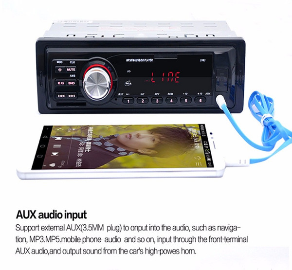5983 Car Radio Auto Audio Stereo MP3 Player Support FM SD AUX USB Interface for Vehicle In-Dash 1 Din Input Receiver Device