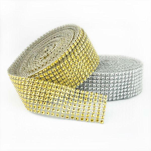 """Diamant Sparkle Strass Wraps Band -Hochzeits -Party Home Decor /Hochzeitsdekoration /Ereignis Partei Liefert 1,58 """"X 30Ft"""