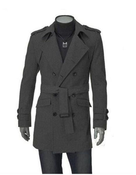 Edição Han inverno homem britânico na Europa e o pano de lã fina de alta qualidade blusão grandes estaleiros com um casaco / M-3XL