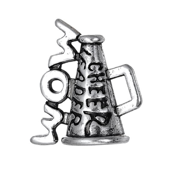 """3 Style Lettering """"Cheer"""" loudspeaker Alloy Charms Dangle Hanging Charm DIY Jewelry Accessories Charms Jewelry 50pcs/lot"""