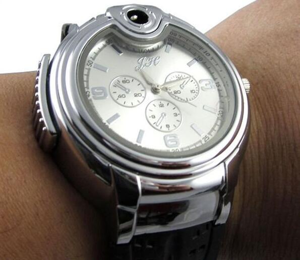 NEW Watch Lighter Quartz Wrist Butane Cigarette Cigar Watch Lighter electric watch creative products with Retail Packaging Drop shipping