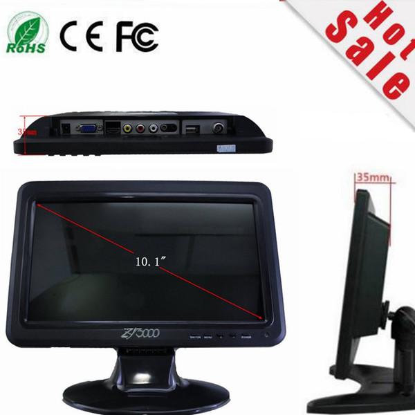 top popular new 10.1 Inch IPS Ultra Thin 1280*800 Car Video Monitor Display With AV HDMI VGA AV-IN Built-in Speaker 2019