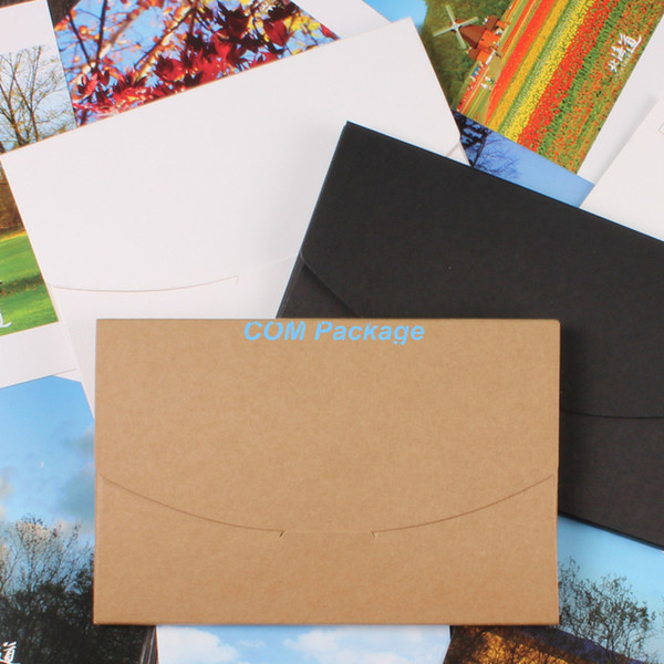 Wholesale-10.5*16+0.5cm Kraft Paper Envelope Invitation Card Letter Stationery Packaging Bag Postcard Photo Box Gift Greeting Card Cover