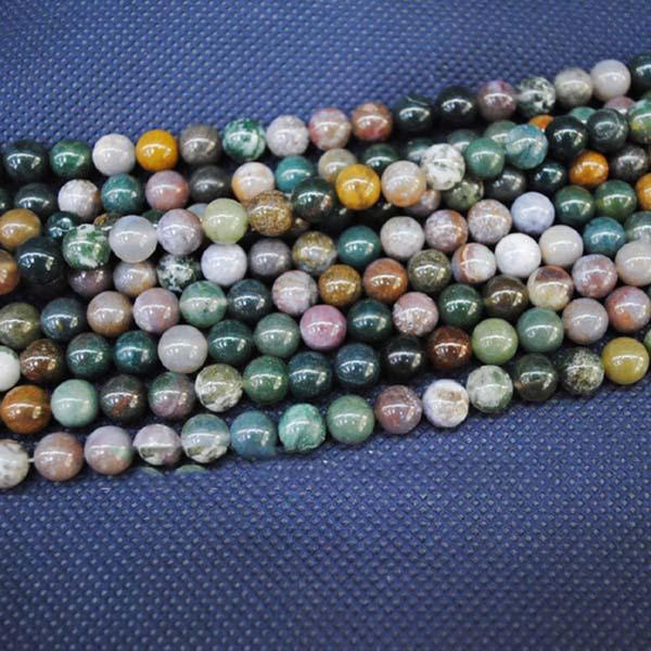 188pcs / lot, perles d'agate indienne, perles de pierre semi-précieuses en vrac, accessoires de perles, ajustement de fabrication de bracelet, bijoux de bricolage