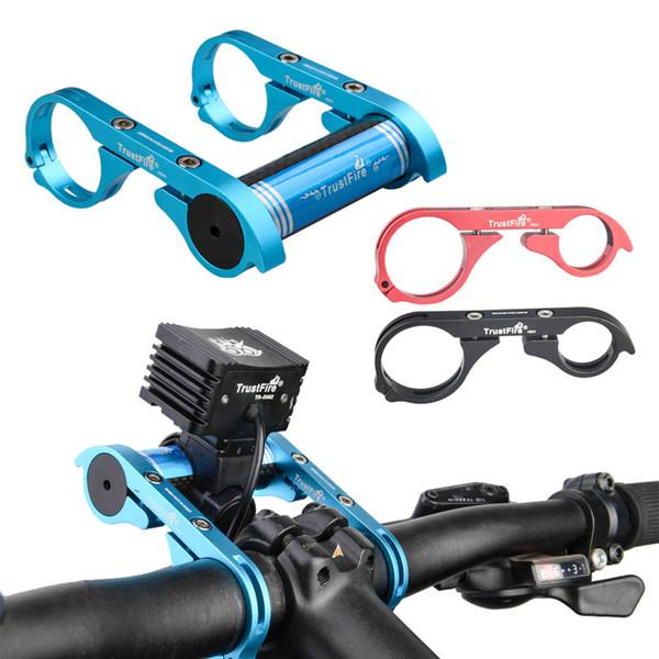 Promosyon! TrustFire Karbon Fiber Deniz Feneri Bisiklet Bisiklet Gidon Genişletici Uzatma Fener BLL_300 için Montaj Braketi Tutucu