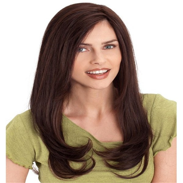 Full Lace Wig Bundles Full Lace Human Hair Wig Senior Silk Long Wavy Full Lace Wigs Brazilian Virgin Hair 100% With Bangs For women Color 4#