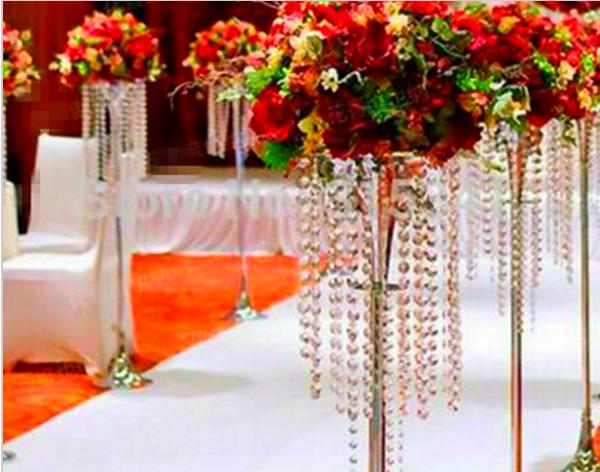 take top crystal chandelier walkway stand wedding tall flower stands ...