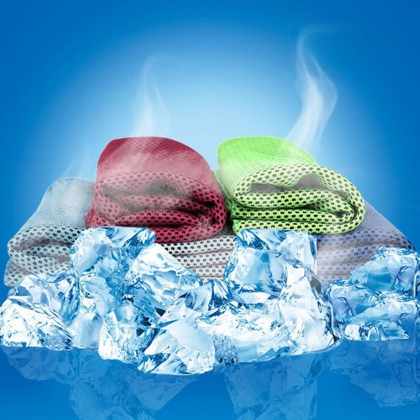 Multicolor 100*30cm Ice Towel Utility Enduring Instant Cooling Towel Heat Relief Reusable Chill Cool Towel Cold