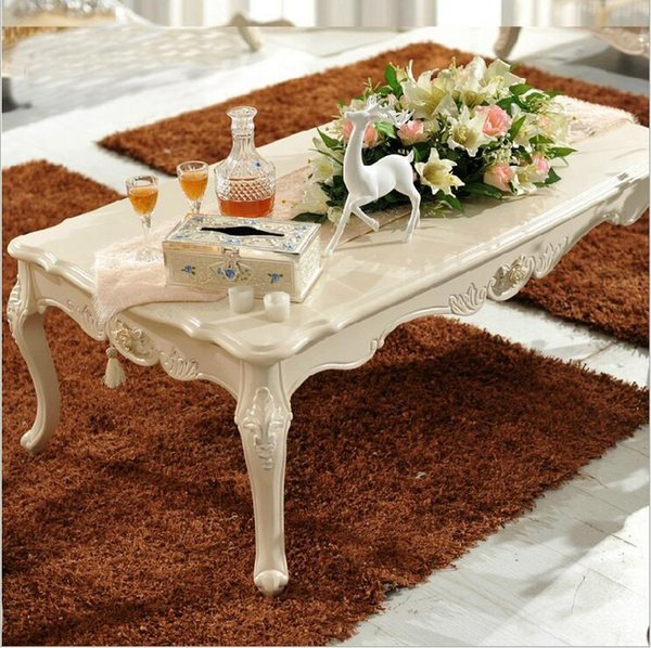 new arrival hot selling fashion European style French Italian hand carved natural wood coffee table pfy10023