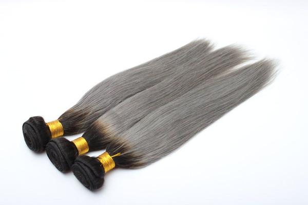 Grandes réductions pour les faisceaux de cheveux brésiliens humains tissés de trame de cheveux de cheveux et d'armure en stock