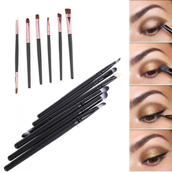 Wholesale- 6 PCS Professional Makeup Cosmetics Brushes Eye Shadows Eyeliner Nose Smudge Brush Tool Set Kit for eye makeup brushes