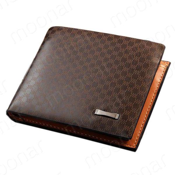 2016 neue Modemarke Designer Stil Business Leder Männer Geldbörsen Kurzen Geldbeutel Kartenhalter Geldbörsen Carteira Masculina Couro