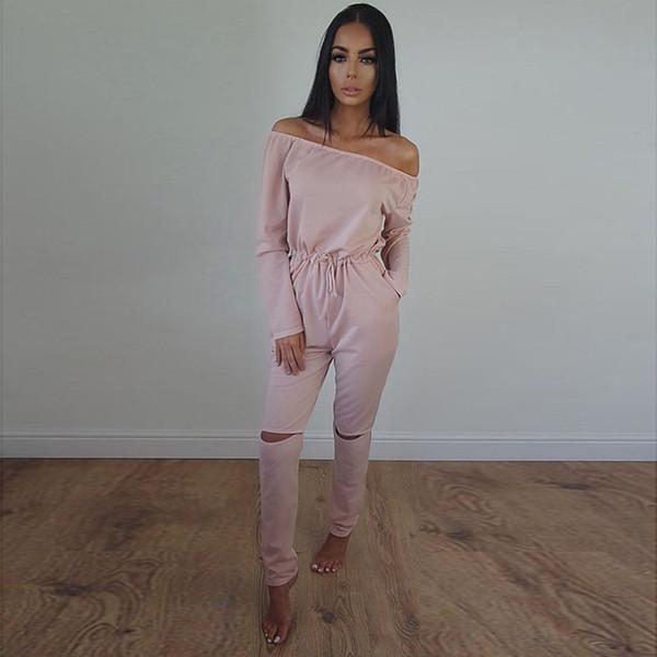 d4cf3e388 plus size rompers jumpsuit Promo Codes - Wholesale- 2016 fashion women  autumn sexy plus size