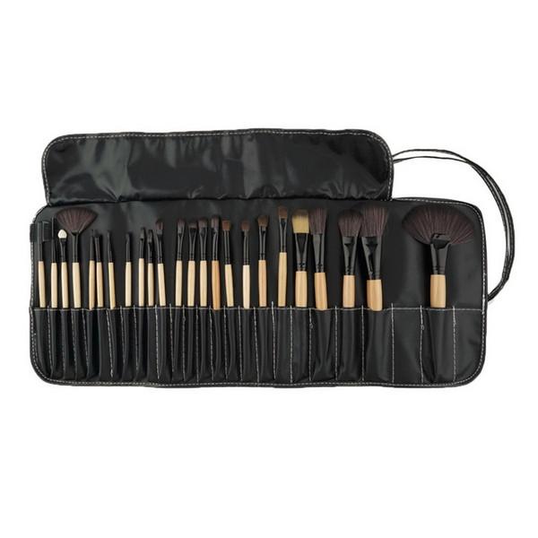 All'ingrosso-Professionale 24 pezzi Set pennelli trucco Trucco Kit da toilette Marca lana Make up Pennelli per capelli di capra Set pinceaux maquillage