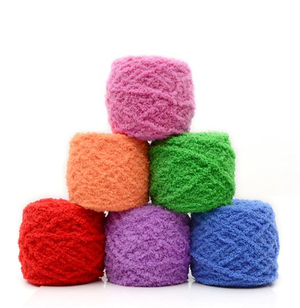 d2c2e2cfc4c93f 5 unids / 500 g de punto tejido de lana tejido a mano coloridos tejidos de
