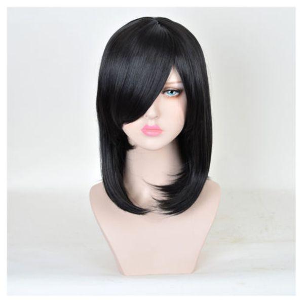 Mittellange gerade natürliche schwarze Art und Weise Synthteic freies Verschiffen-Damen-kurzes Haar Perruque für Frauen peruca Peluca perruque Ladys WIGS