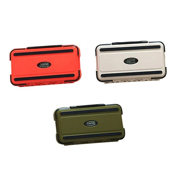 best selling Lure Fishing Box 24 Compartments Double Layer Fishing Box Plastic Fishing Tackle Box 2017 New 2508069