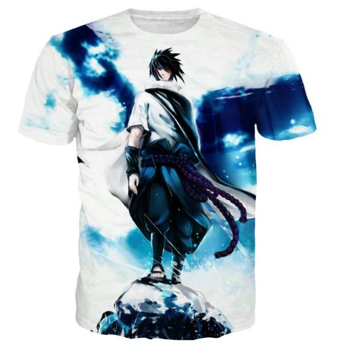Womens/Mens Casual Vintage Tops Tees Tie Dye Style Anime T Shirts Hipster Naruto 3D T Shirt Cool Uchiha Sasuke Prints T-shirts