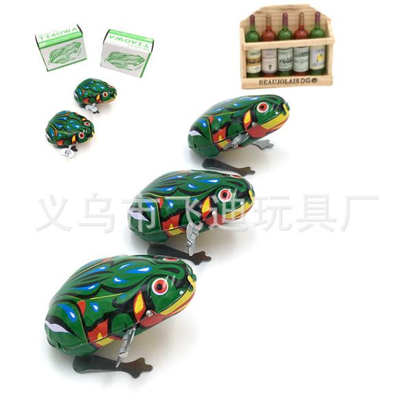 Iron frog nostalgic clockwork toy baby chain iron frog classic stall toy wholesale