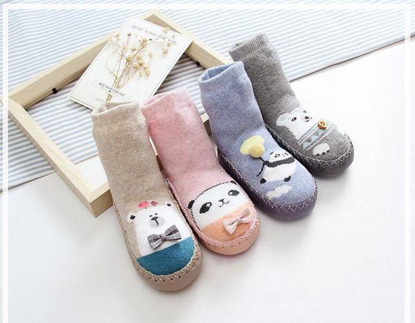 La nouvelle marque de coton antidérapante porte des chaussettes fille et garçon 30pcs / lot good quality0-3T