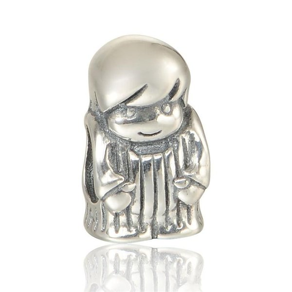 925 Baby boy charms S925 sterling silver fits for pandora bracelets free shipping LW563