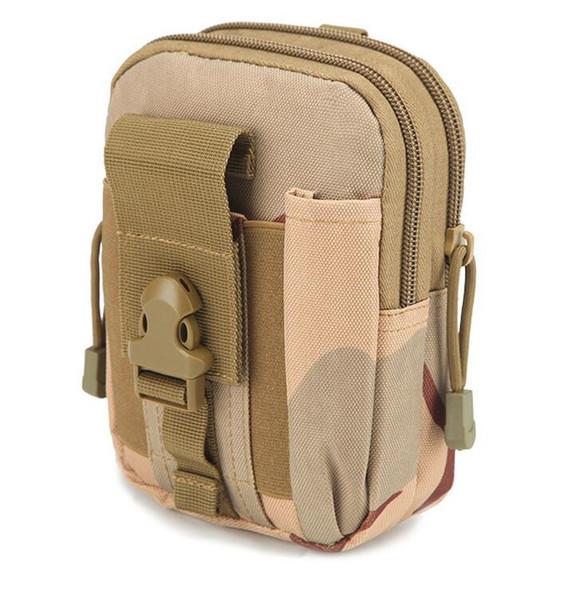 Portátil táctico militar al aire libre de la correa de cintura de los hombres Bolsas de nylon impermeable del teléfono móvil Cartera de viaje Deporte paquete de la cintura bolsa de teléfono a prueba de agua