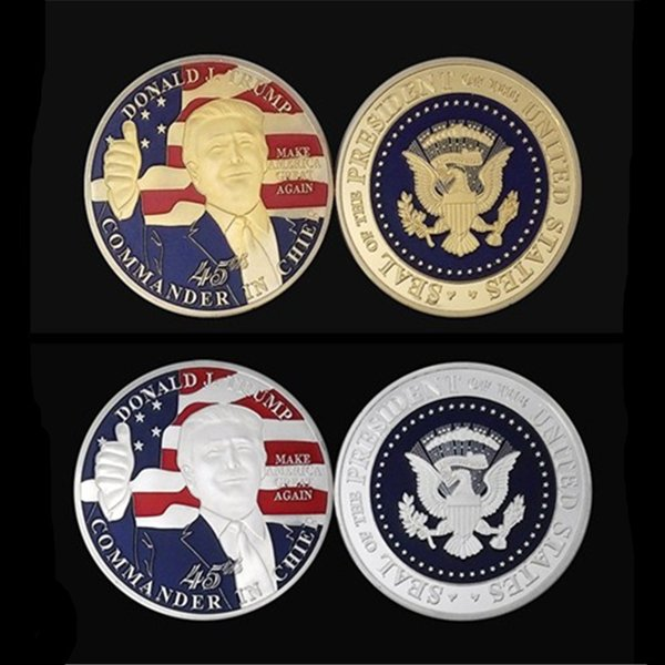 2019 Usa Donald Trump Coin 403mm The President Of The United State Of Ameirca Souvenir Coins Gold Or Silver Plated Badge Metal Crafts From Yikunze