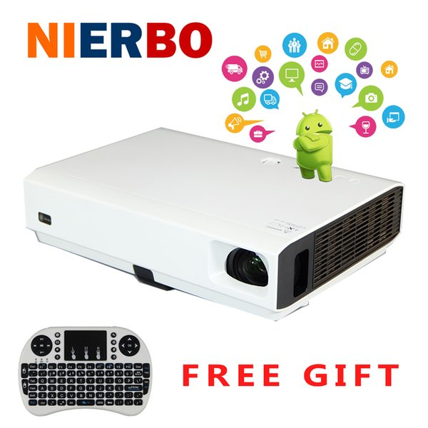 Wholesale-4500 lumens Full HD 1080P 3D Laser Led Projectors Perfect Home Theater Business Movie Projector with Android Bluetooth Wifi