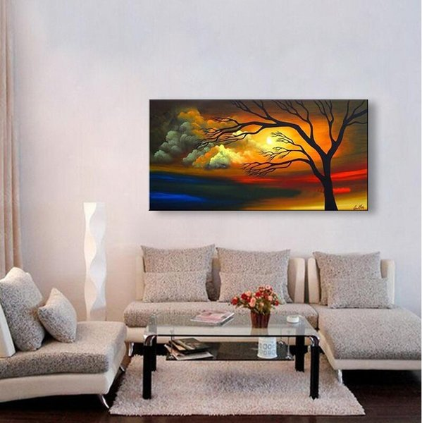handmade oil painting on canvas modern 100% Best Art Landscape oil painting original directly from artis c04