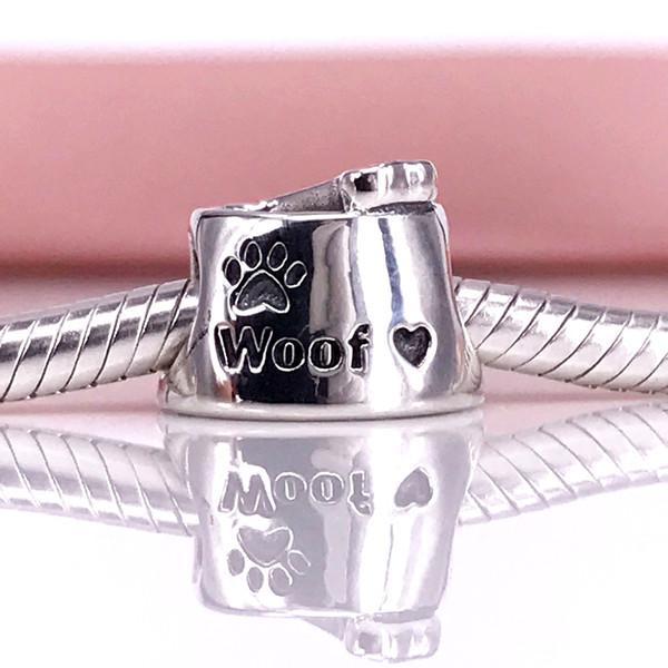 Authentische 925 Sterling Silber Woof Charm Fit DIY Pandora Armband und Halskette 791708CZ