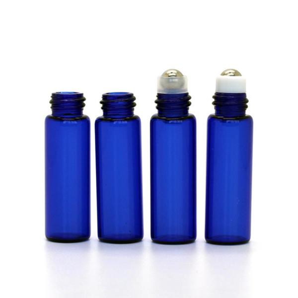 Acheter Pas Cher En Gros Mini 5ml Bleu Bouteilles En Verre En Verre Rouleau Bouteille Avec Balle En Métal Pour Huile Essentielle Aromathérapie Parfums
