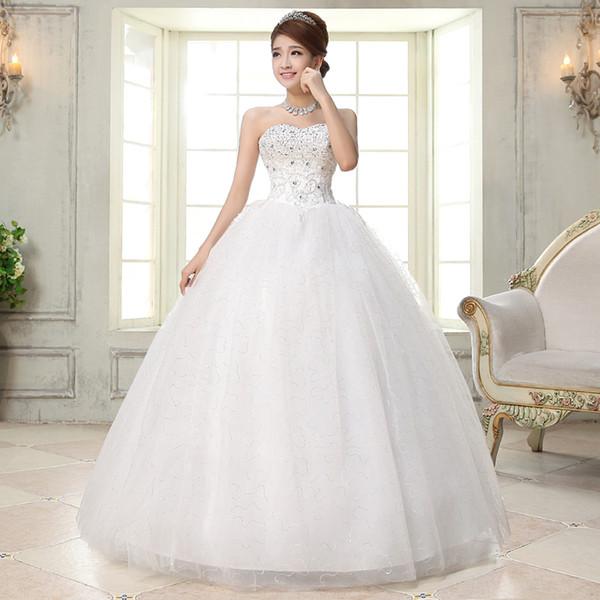 Großhandel 2017 Koreanische Diamant Hochzeitskleid Kristall Einfache ...