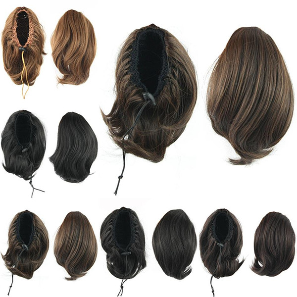 Wholesale-Bun Hair Ponytails, Synthetic Donut Roller Hairpieces, Hair Extension