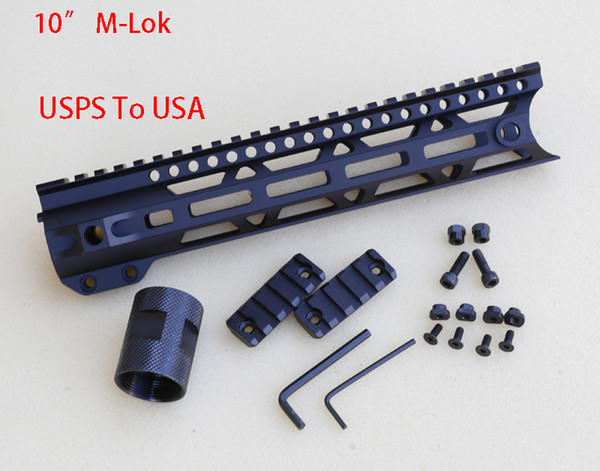 New Arrivals Aluminum Material Handguard 009A M-Lok 10 With Swivel Hole Rail Stocked in USA.Sent via USPS