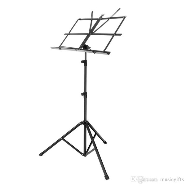 best selling Enhanced Version Adjustable Folding Portable Music Sheet Stand Metal Tripod Stand Holder With Soft Carrying Bag