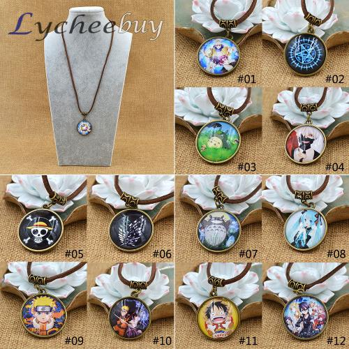Wholesale-Hot Anime Cartoon One Piece Black Butler Tokyo ghouls Style Collection Cosplay Necklace