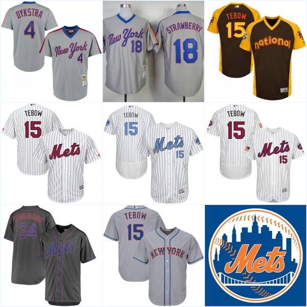 brand new 03818 39a00 2019 Men'S New York Mets Throwback Jersey #4 Lenny Dykstra #15 Tim Tebow #1  Mookie Wilson Baseball Jerseys From Ornaments Shop, $27.42 | DHgate.Com