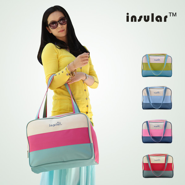top popular Wholesale Free Shipping Canvas Fashion Baby Diaper Bags Waterproof Nappy Bags Mommy Bags 2021
