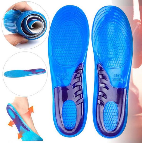 Shoe Silicone Gel Pad Heel Feet Insert Insole Comfortable Cushion Anti-Vibration Soft for Trainning Sports Insole Run Pad KKA2644