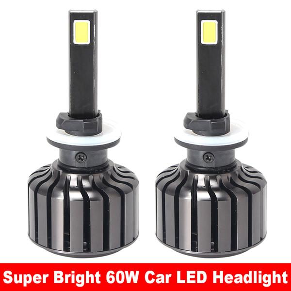 Super Bright 1Set 60W 8000LM LED Headlights Bulbs 6000K COB Headlamp Kit C7 for Cars 9V-36V