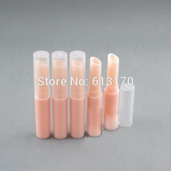 2016 New Arrival Empty Lip balm Tubes Peachy beige lip stick tube Bevel bore DIY make up Lipstick Packing container